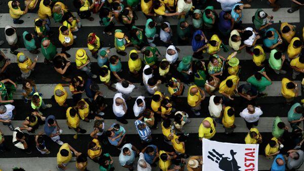 Manifestación antigubernamental en Brasil - Sputnik Mundo