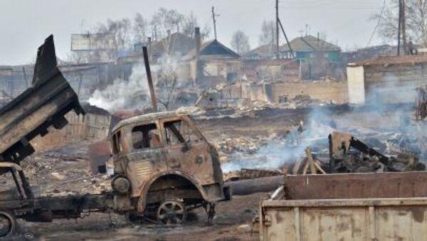 Последствия пожаров в Хакасии - Sputnik Mundo