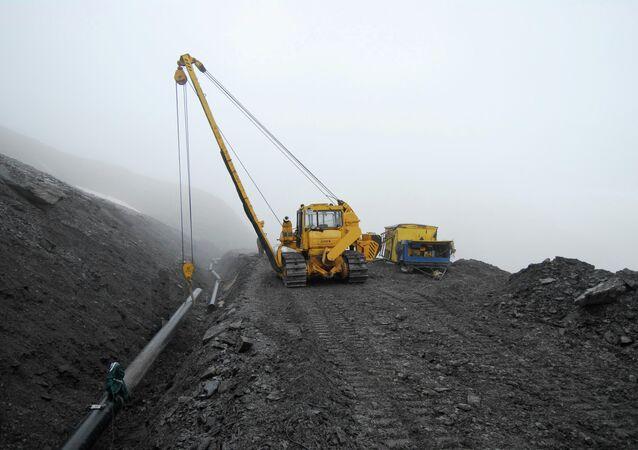 Construcción del gasoducto