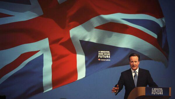 David Cameron, primer ministro de Reino Unido durante su campaña electoral - Sputnik Mundo