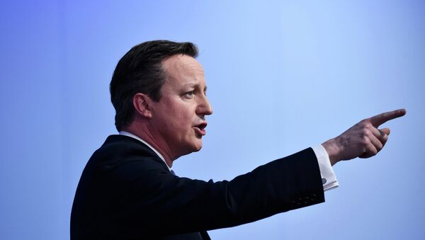 David Cameron, primer ministro de Reino Unido - Sputnik Mundo