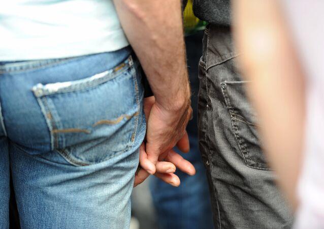 Una pareja gay