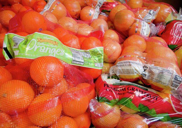 Bolsas de naranja y pomelo