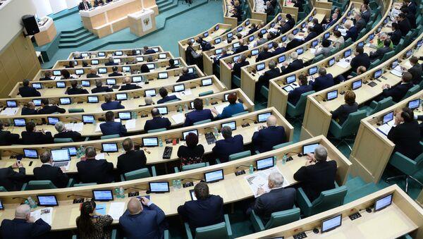 Sesión plenaria del Senado de Rusia (Archivo) - Sputnik Mundo