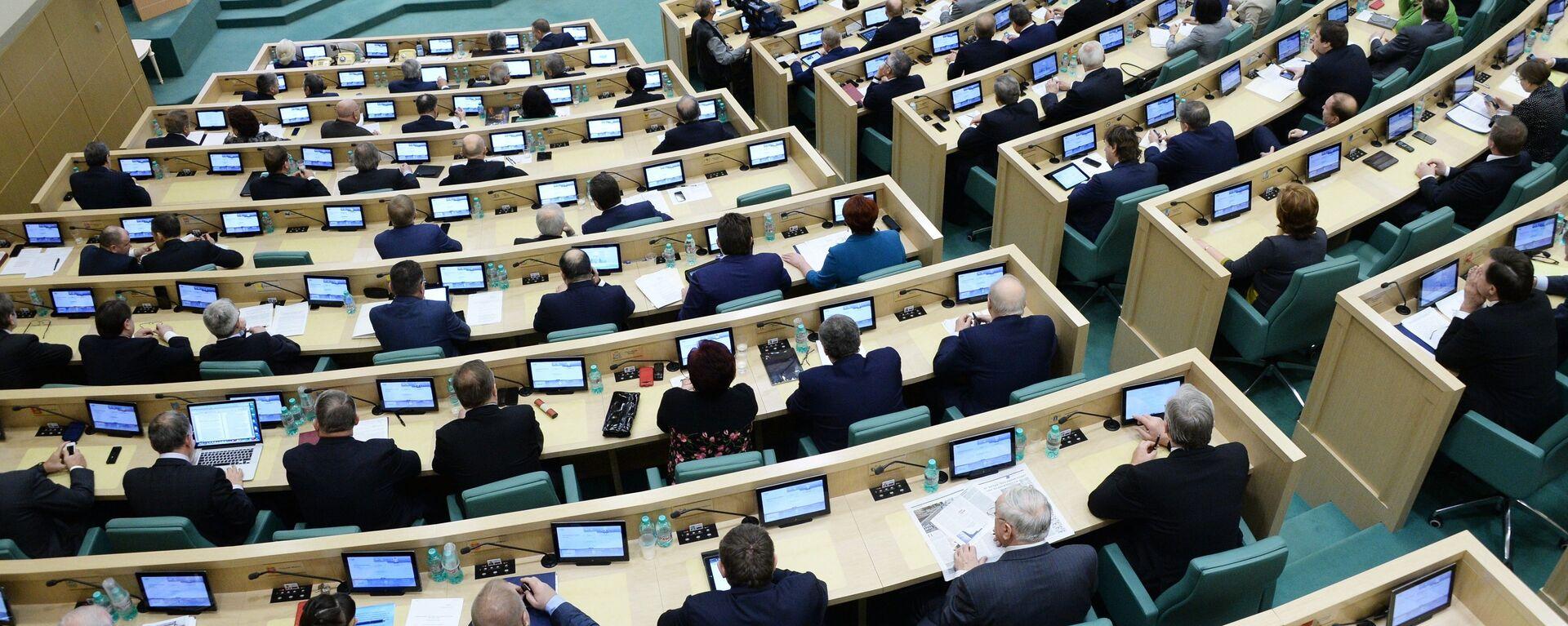 Sesión del Senado de Rusia (Archivo) - Sputnik Mundo, 1920, 01.07.2021