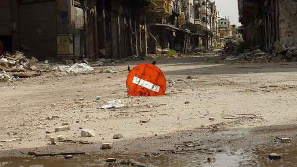 Casas destruidas en la ciudad siria de Homs - Sputnik Mundo
