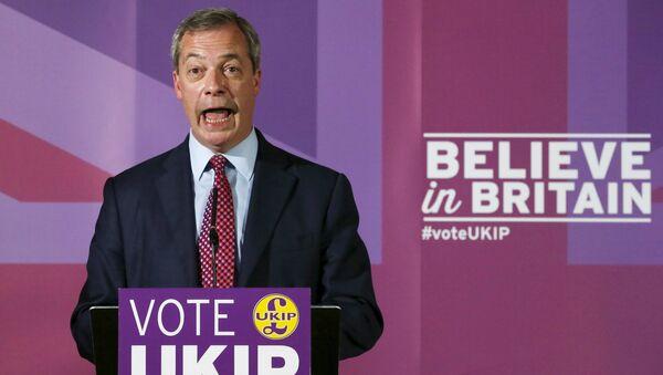 Nigel Farage, líder del Partido por la Independencia de Reino Unido - Sputnik Mundo
