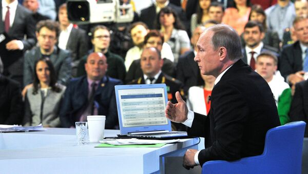 El presidente Putin responde a las preguntas de los rusos - Sputnik Mundo