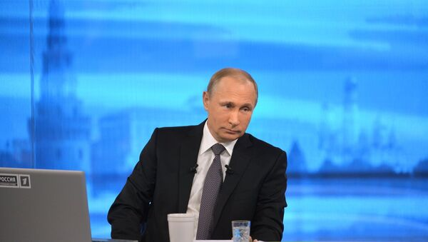Línea directa con Vladímir Putin (2015) - Sputnik Mundo