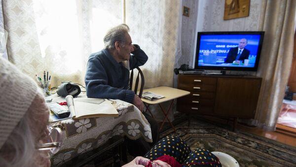 Línea directa con Vladímir Putin del año 2015 - Sputnik Mundo