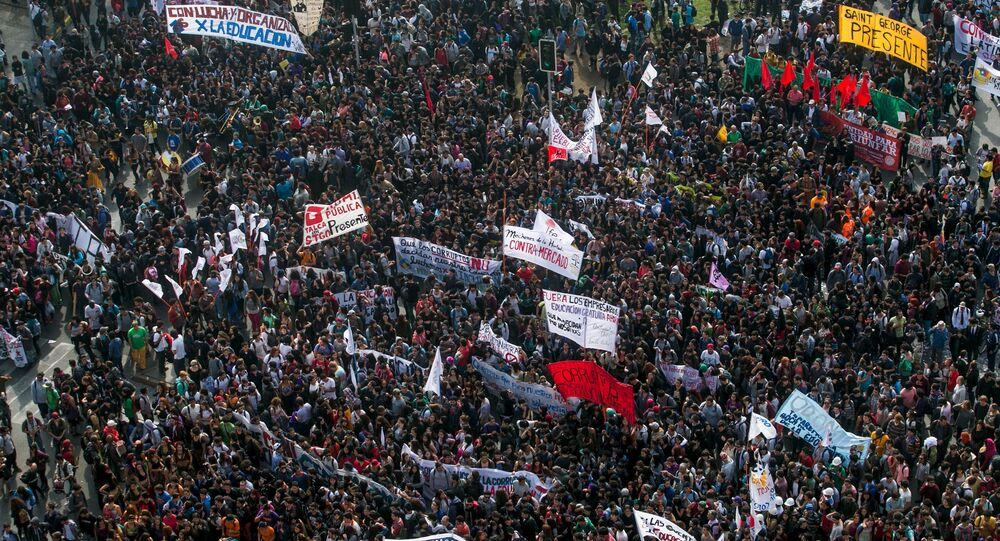 Las protestas estudiantiles en Chile