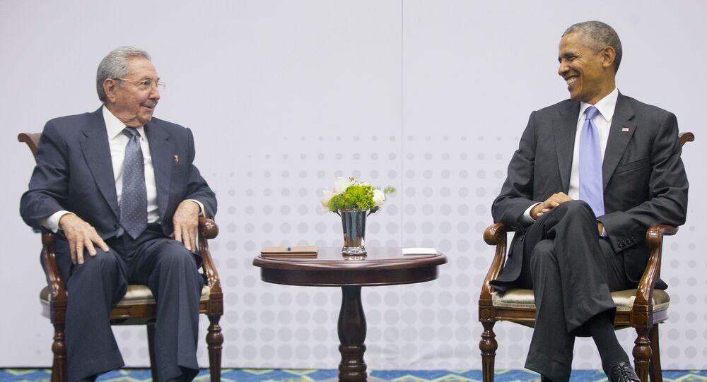 Presidente de Cuba, Raúl Castro, y presidente de EEUU, Barack Obama