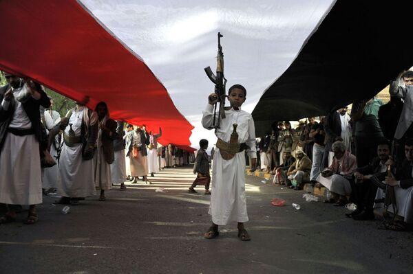 Protestas en Saná contra la resolución de la ONU sobre Yemen - Sputnik Mundo