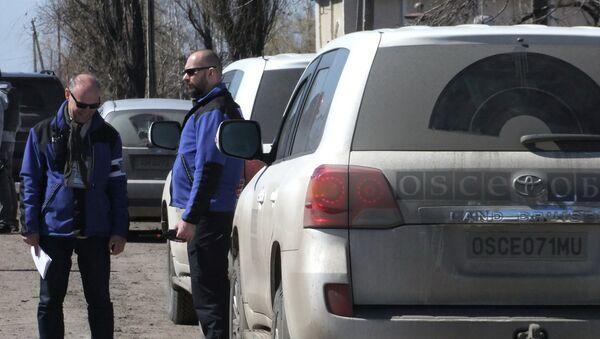 Observadores de la OSCE en el este de Ucrania - Sputnik Mundo