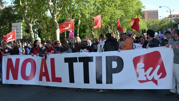 Protestas contra el TTIP (Archivo) - Sputnik Mundo
