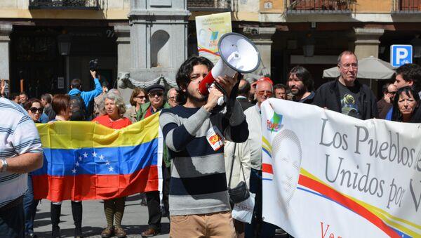 Concentración en Madrid en solidaridad con Venezuela - Sputnik Mundo