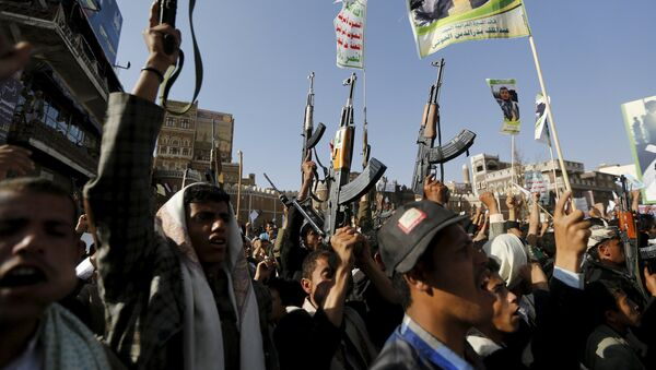 Rebeldes hutíes en Yemen - Sputnik Mundo