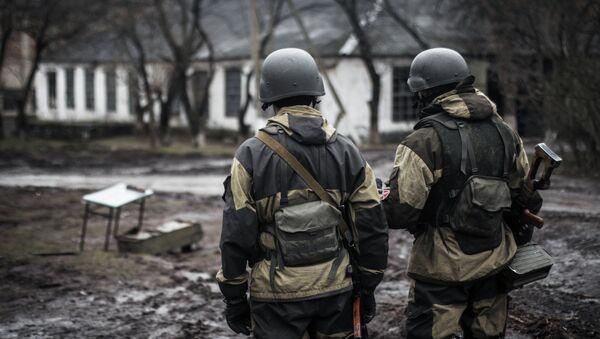 Milicianos de la RPD en Shirókino - Sputnik Mundo