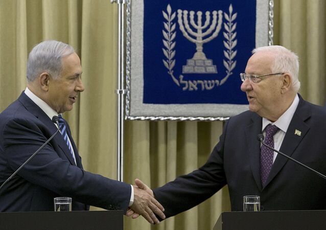 Primer ministro de Israel, Benjamín Netanyahu y presidente de Israel, Reuven Rivlin