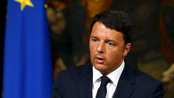 Matteo Renzi, primer ministro de Italia - Sputnik Mundo