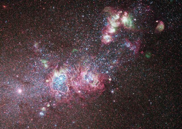 Una galaxia de enanas blancas