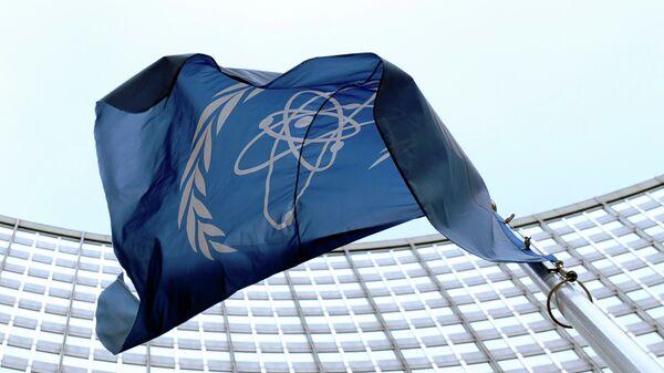La bandera de la OIEA en Viena - Sputnik Mundo