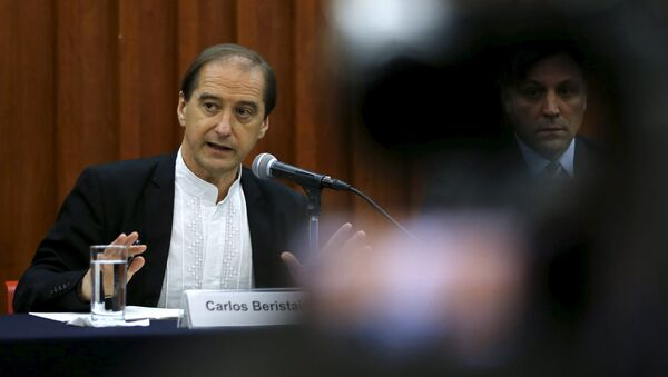 Carlos Beristain, portavoz de la Comisión Interamericana de los Derechos Humanos (CIDH). 20 de abril de 2015 - Sputnik Mundo