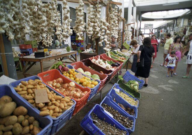 Mercado central en Nicosia, Chipre (Archivo)