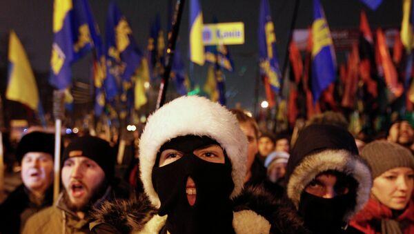 Marcha nacionalista en Ucrania (archivo) - Sputnik Mundo
