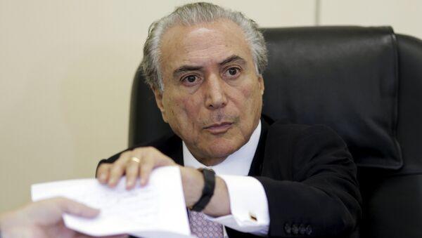 Michel Temer, presidente de Brasil (archivo) - Sputnik Mundo