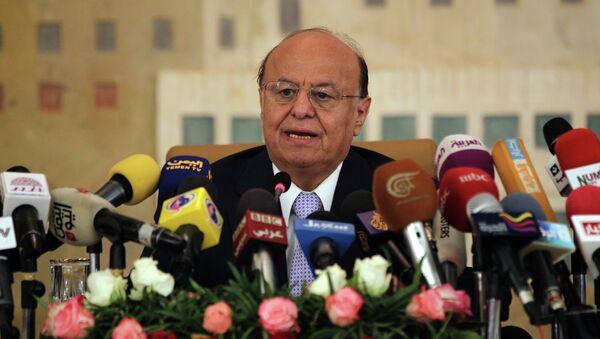 Yemeni President Abdrabuh Mansur Hadi - Sputnik Mundo