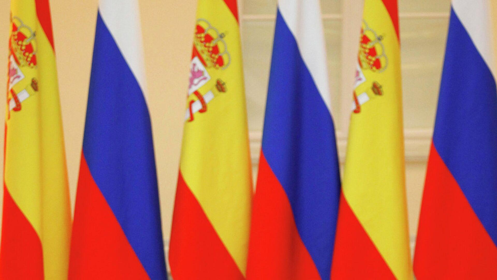 Banderas de España y Rusia (archivo) - Sputnik Mundo, 1920, 08.04.2021