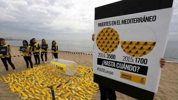 Amnistía Internacional urge a la UE que ponga fin a los naufragios en el Mediterráneo - Sputnik Mundo