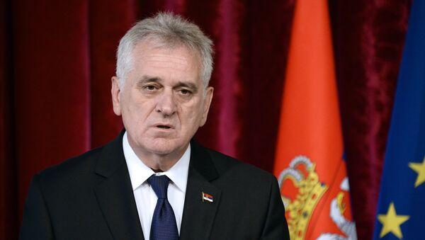 Tomislav Nikolic, presidente de Serbia (archivo) - Sputnik Mundo