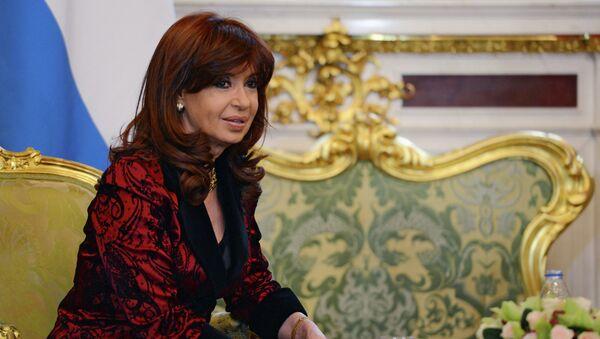 Cristina Fernández de Kirchner, presidenta de Argentina, durante su visita a Moscú - Sputnik Mundo
