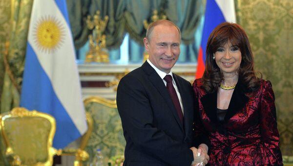 Встреча президента РФ В.Путина с президентом Аргентины К. Фернандес де Киршнер - Sputnik Mundo