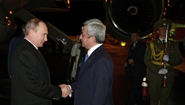 Рабочий визит президента России В.Путина в Армению - Sputnik Mundo