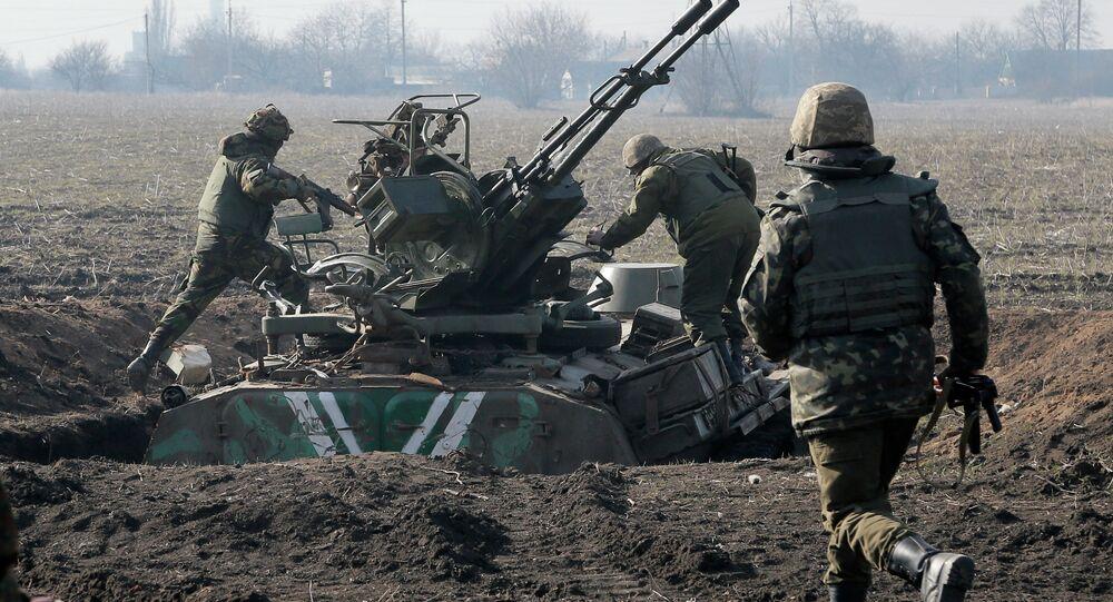 Efectivos del Ejército ucraniano cerca de Donetsk (Archivo)