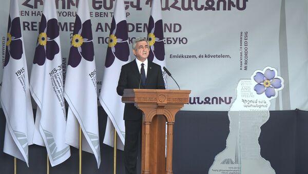 Serzh Sargsián, presidente de Armenia - Sputnik Mundo