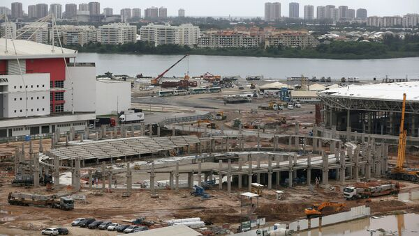 Construcción del Velódromo en el Parque Olímpico de Río de Janeiro - Sputnik Mundo