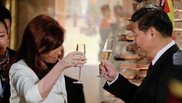 Presidenta de Argentina, Cristina Fernández de Kirchner y presidente de la República Popular China, Xi Jinping - Sputnik Mundo