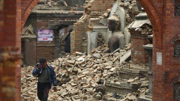 Consecuencias del terremoto en Nepal - Sputnik Mundo