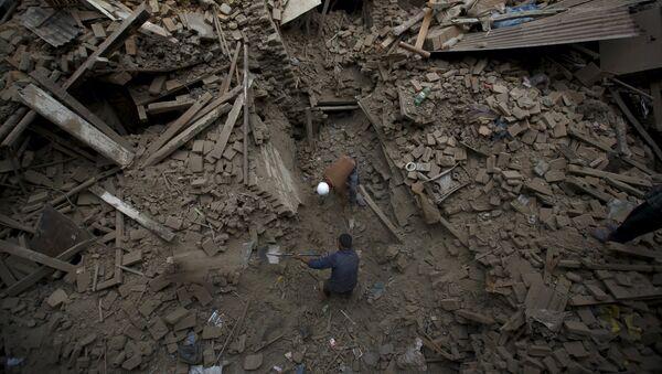 Consequencias del terremoto en Nepal - Sputnik Mundo