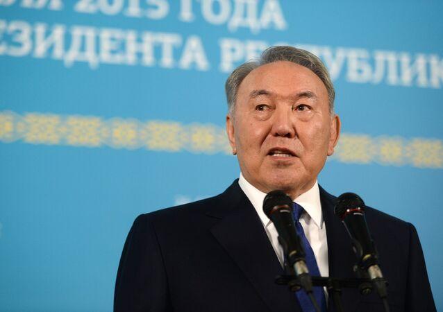 Nursultán Nazarbáyev, actual presidente de Kazajistán
