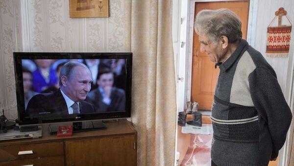Трансляция Прямой линии с Владимиром Путиным - Sputnik Mundo