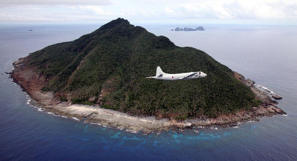 Una de las islas Senkaku (Diaoyu)