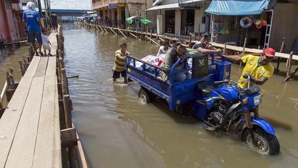 Inundacion en Brasil - Sputnik Mundo