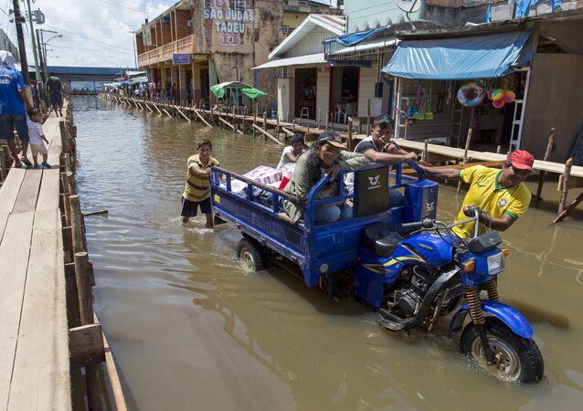 Inundacion en Brasil