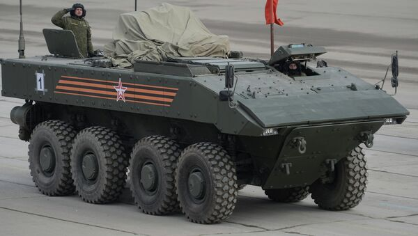 Transporte blindado con ruedas Bumerang - Sputnik Mundo