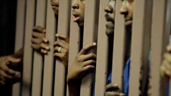 Prisioneros de una cárcel en EEUU - Sputnik Mundo